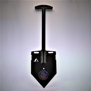 Black MPS-2T Shelterwerks compact aluminum emergency shovel
