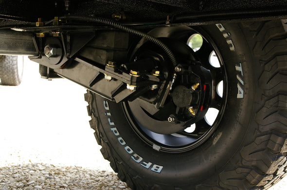 Timbren axleless suspension of Rugged and Ready off road trailer