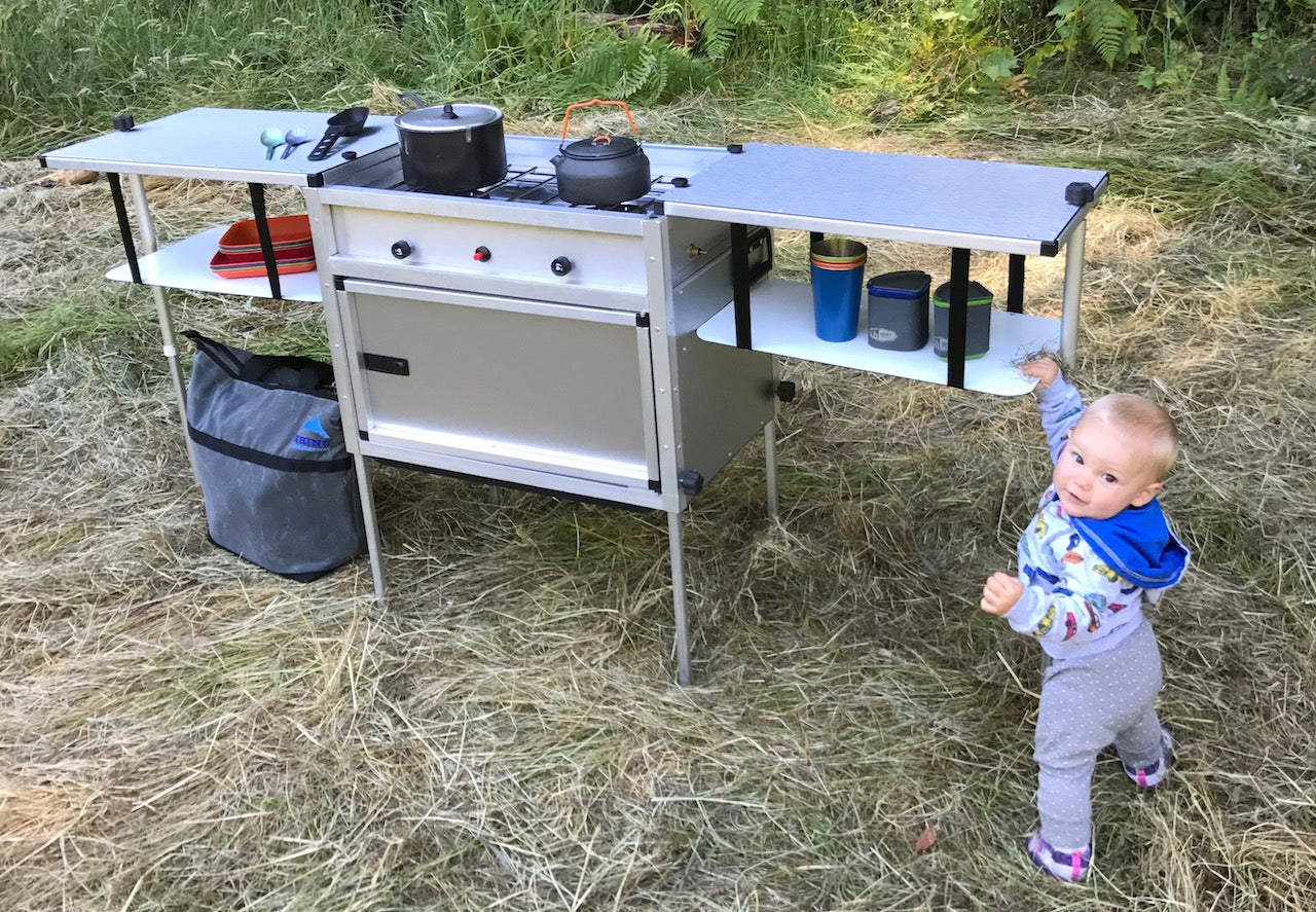 trail kitchens the camp kitchen with integrated stove - Camping Kitchen