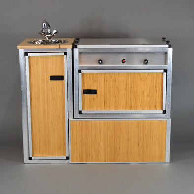 Trail Kitchens Van Kitchen bamboo skin finish