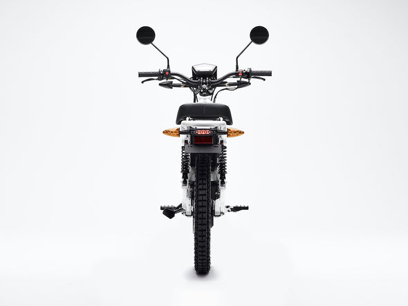 Ubco 2x2 2018 street-legal off-road electric adventure bike available at Rhino Adventure Gear- back view