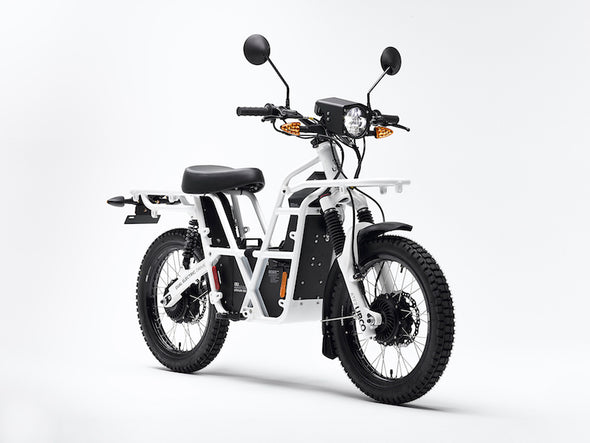 Ubco 2018 2x2 street legal off-road electric adventure bike available at Rhino Adventure Gear- front side view
