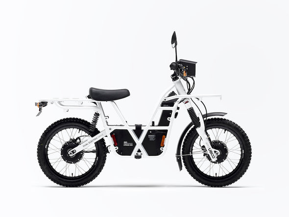 Ubco 2x2 2018 street-legal off-road electric adventure bike available at Rhino Adventure Gear- side view