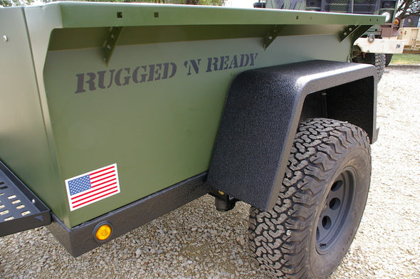 USA made Rugged and Ready off road trailer for roof top tent