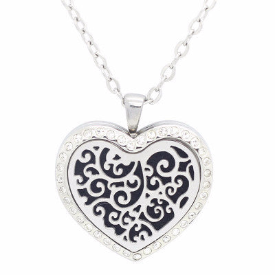 Scentz Tree of Life Aromatherapy Diffuser Locket Necklace Celestial Heart