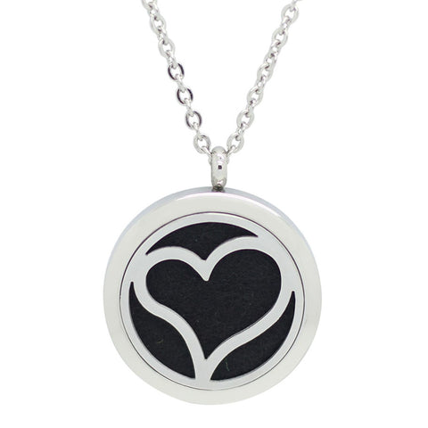 *New!! Sweet Heart Round Aromatherapy Essential Oil Diffuser Locket Necklace