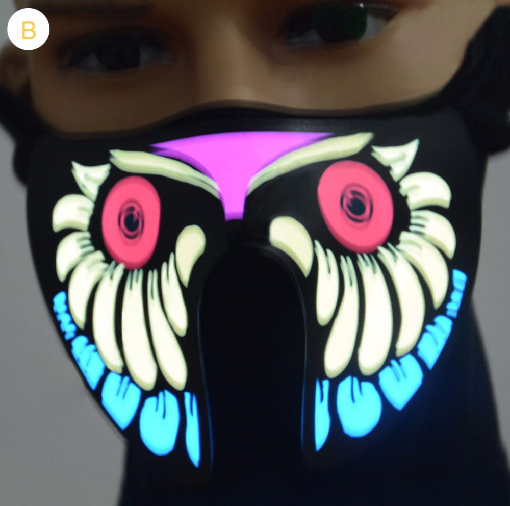 Glow In The Dark Sound Activated Masks!
