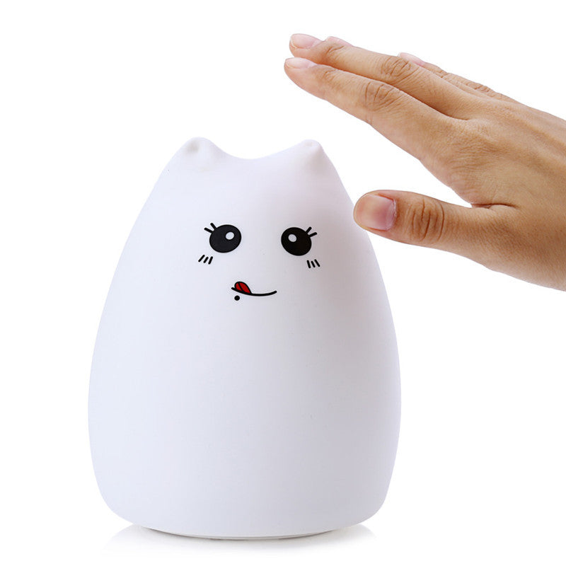 Super Cute Silicon Kitty Lamp