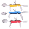 Portable Multi-Function Durable 3 in 1 Stainless Steel Folding Cutlery Set