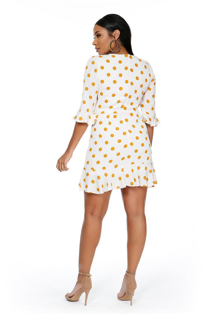 Polka Dot Woven Dress