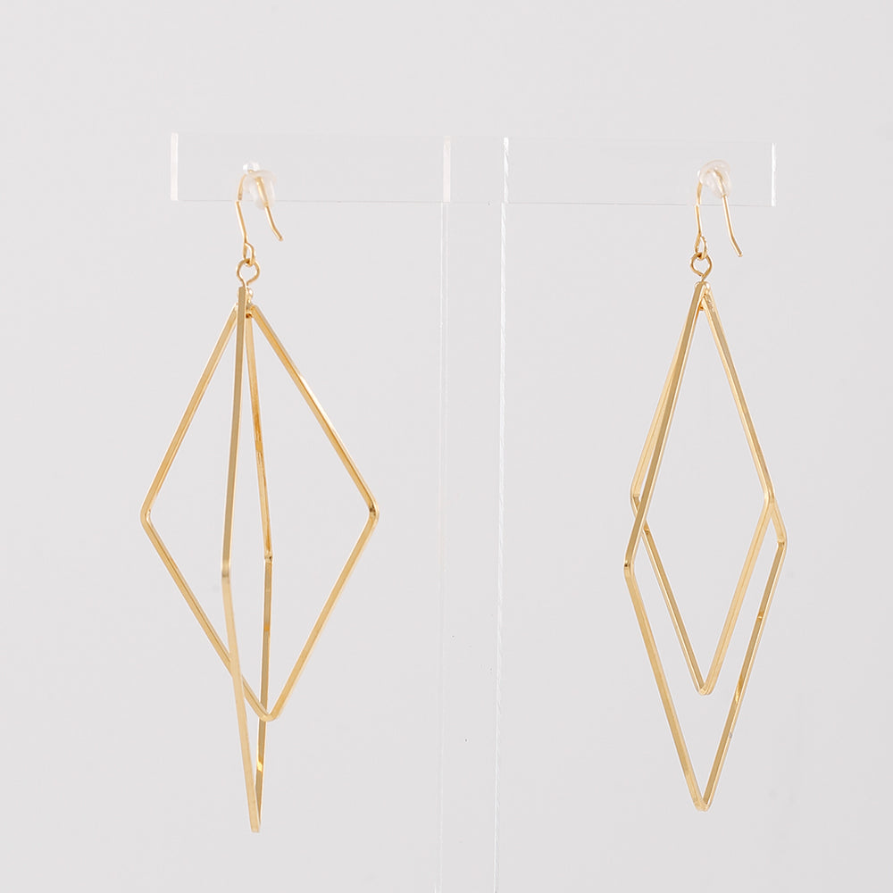 Double Diamond Hoops