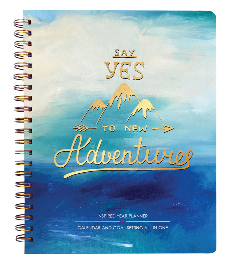 2018 Inspired Year Planner Softcover - Say Yes to New Adventures