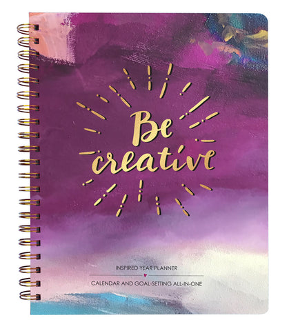 2018 Inspired Year Planner Softcover - Be Creative