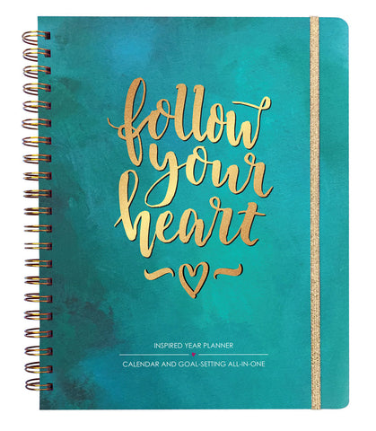 2018 Inspired Year Planner Hardcover - Follow Your Heart