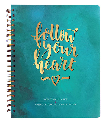Follow Your Heart - 2018-2019 Inspired Year Planner