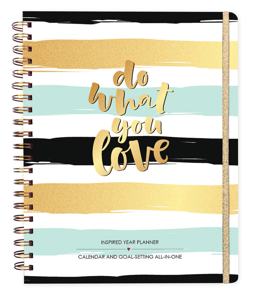 2018 Inspired Year Planner - Do What You Love Stripes