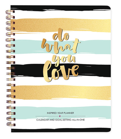 Do What You Love Stripes - 2018-2019 Inspired Year Planner
