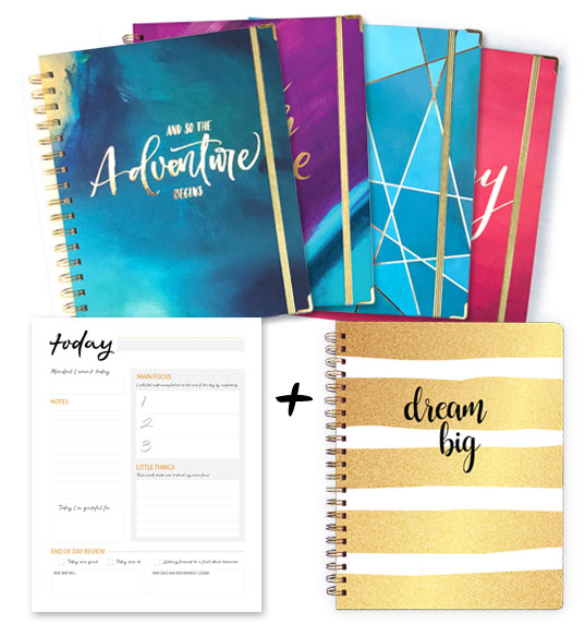 Planner + Daily Notepad + Writing Journal Bundle