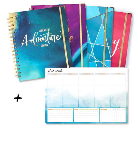 Monthly Planner + Weekly Notepad Bundle