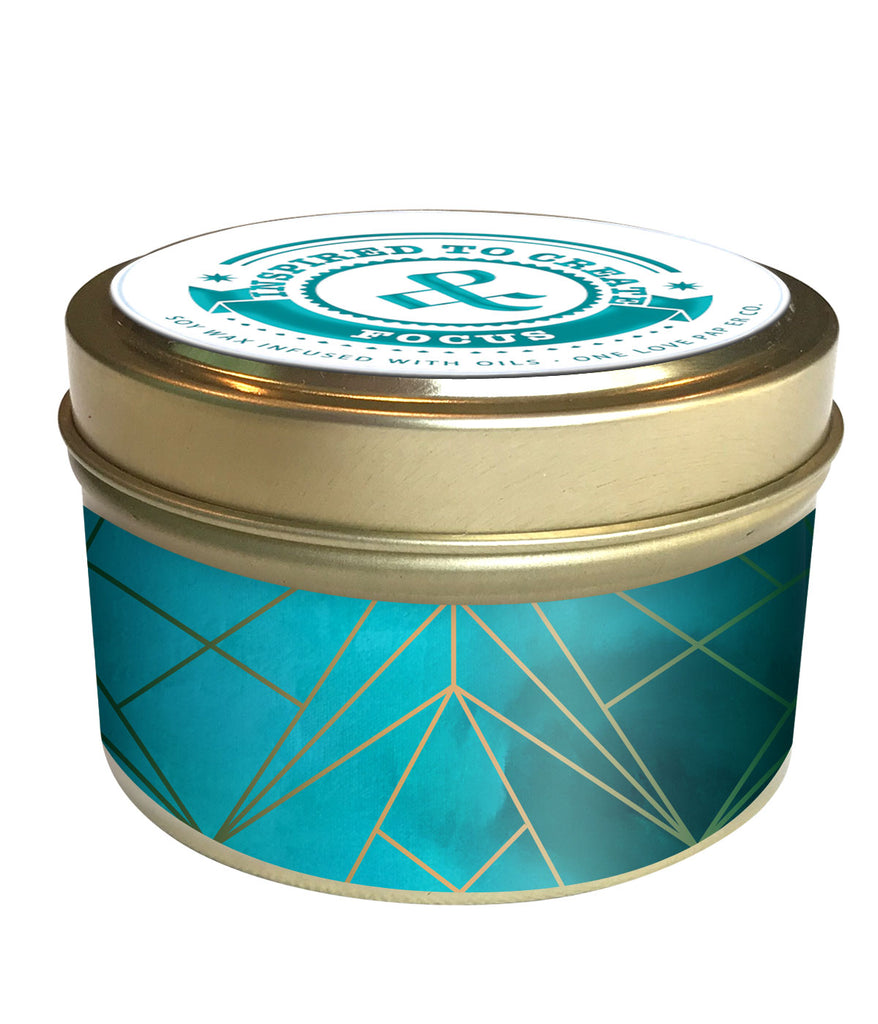 Inspired to Create Soy Wax Candle | Aqua Prism