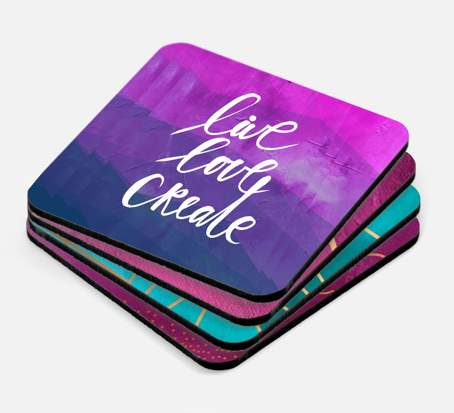 Inspired To Create Coasters One Love Paper Co - Create coasters from photos