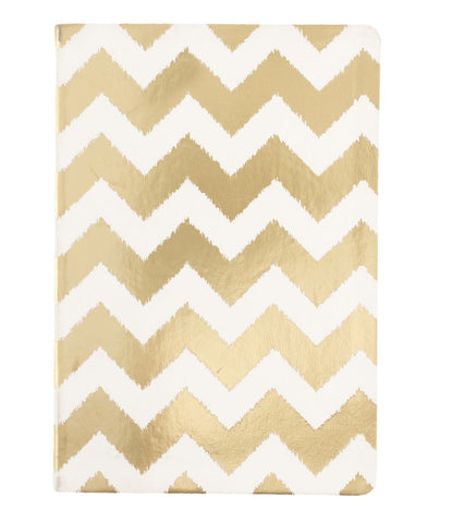 Gold Chevron Lined Journal