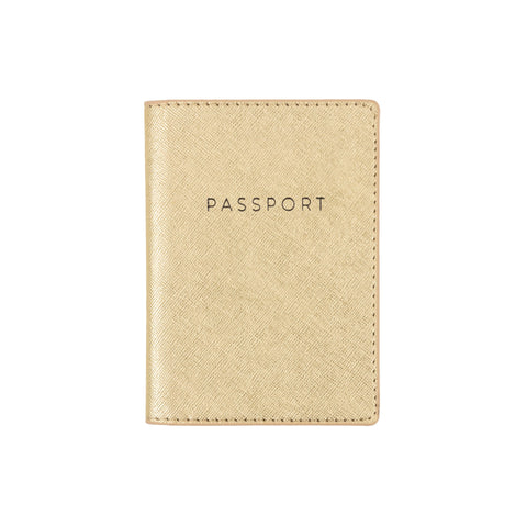 Gold Passport Case