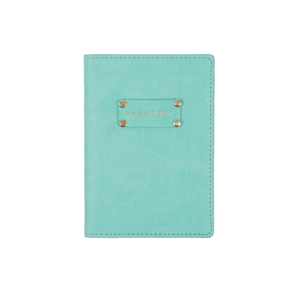 Seafoam Plaque Passport Case