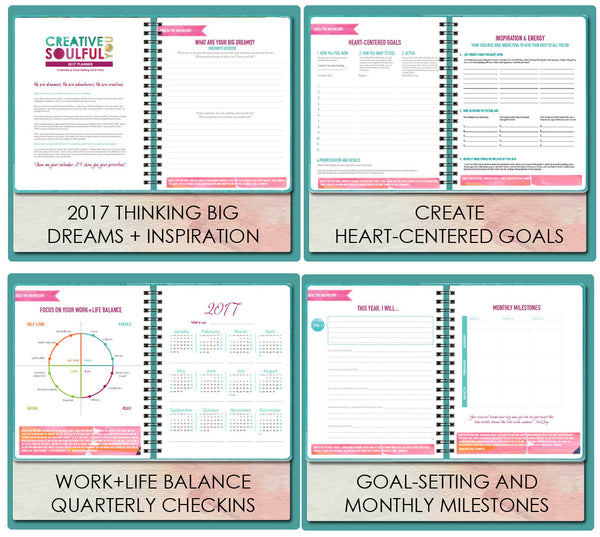 2017 2018 follow dreams inspired year planner goal setting and