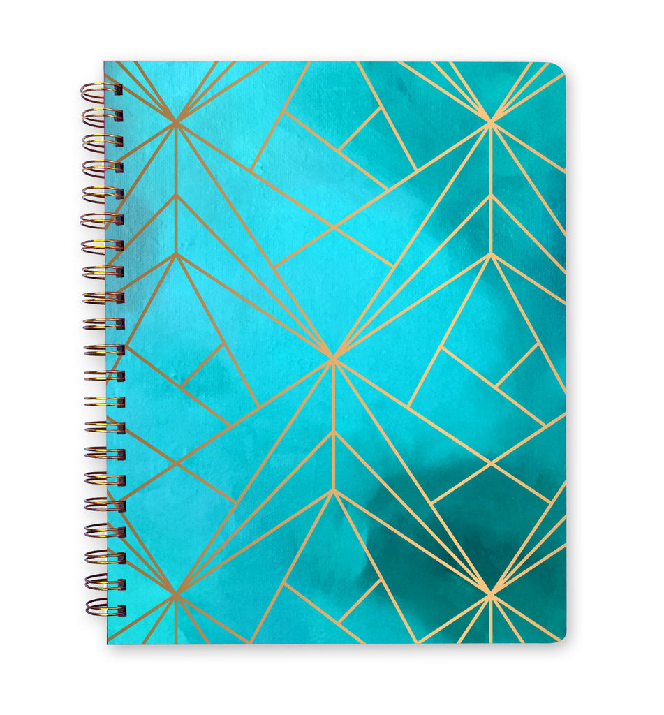 Inspired to Create Dot Grid Journal - Aqua Grid