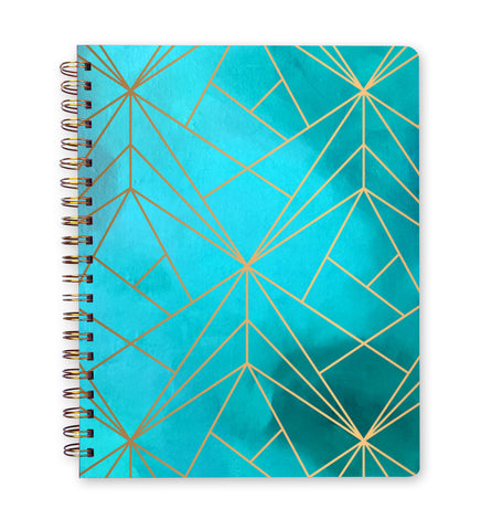 Inspired to Create Bullet Journal - Aqua Grid