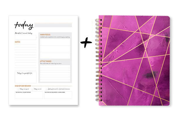 Writing Journal + Daily Notepad Bundle