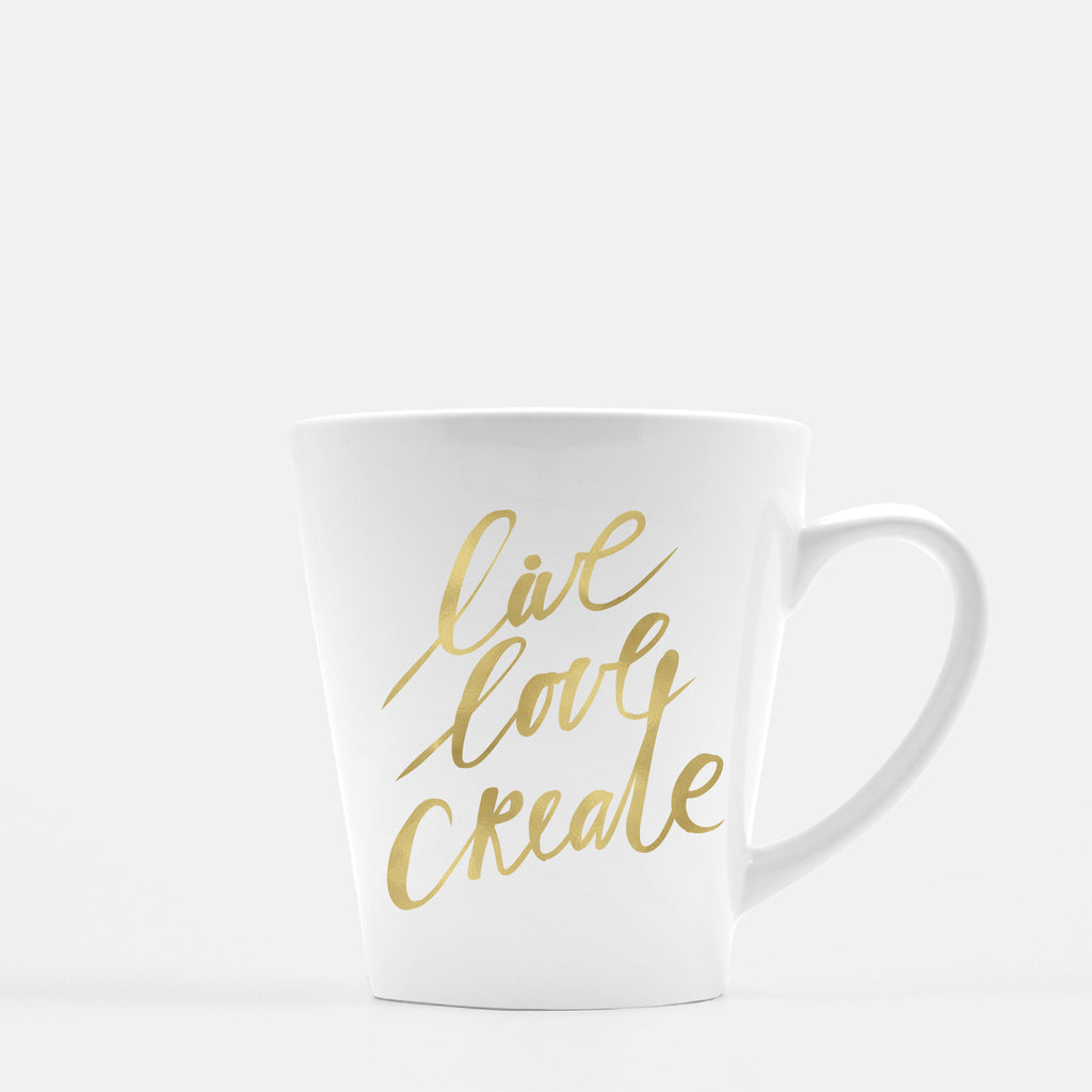 Inspired to Create | Live Love Create Latte Mug