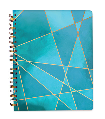 2019 Inspired Year Planner Softcover | Large - Aqua Fragment