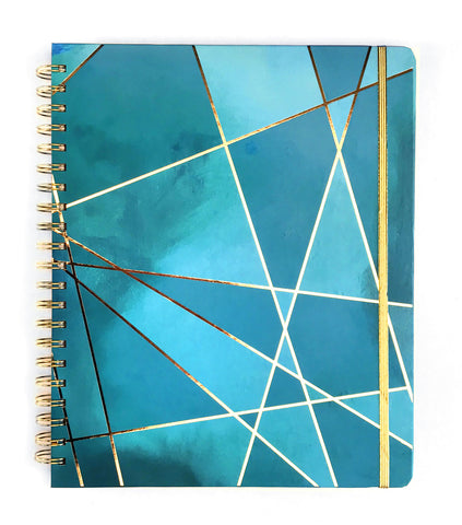 2019 Inspired Year Planner | Large - Aqua Fragment
