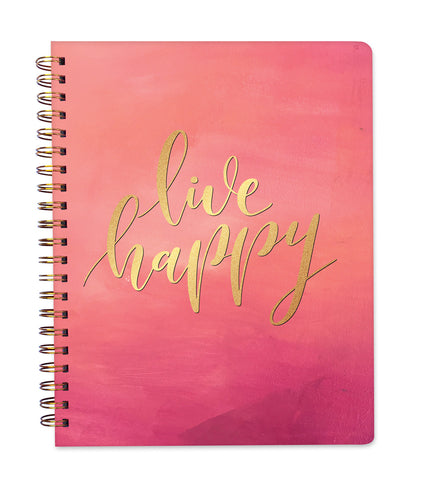 2019 Inspired Year Planner Softcover | Large - Live Happy