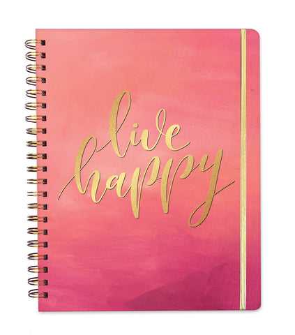 2019 Inspired Year Planner Hardcover | Live Happy