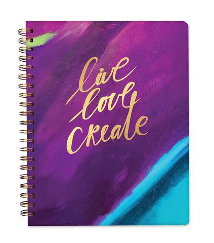 2019 Inspired Year Planner Softcover | Large - Live Love Create