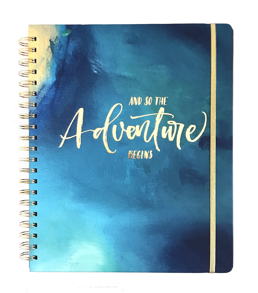 2019 Inspired Year Planner Hardcover | Aqua Fragment