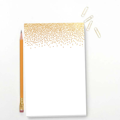 Gold Dots Memo Pad