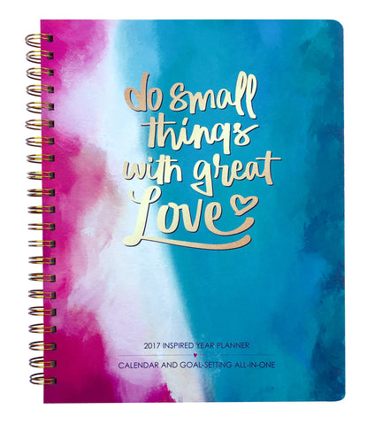 2017-2018 Great Love Inspired Year Planner: Goal-setting and calendar all-in-one