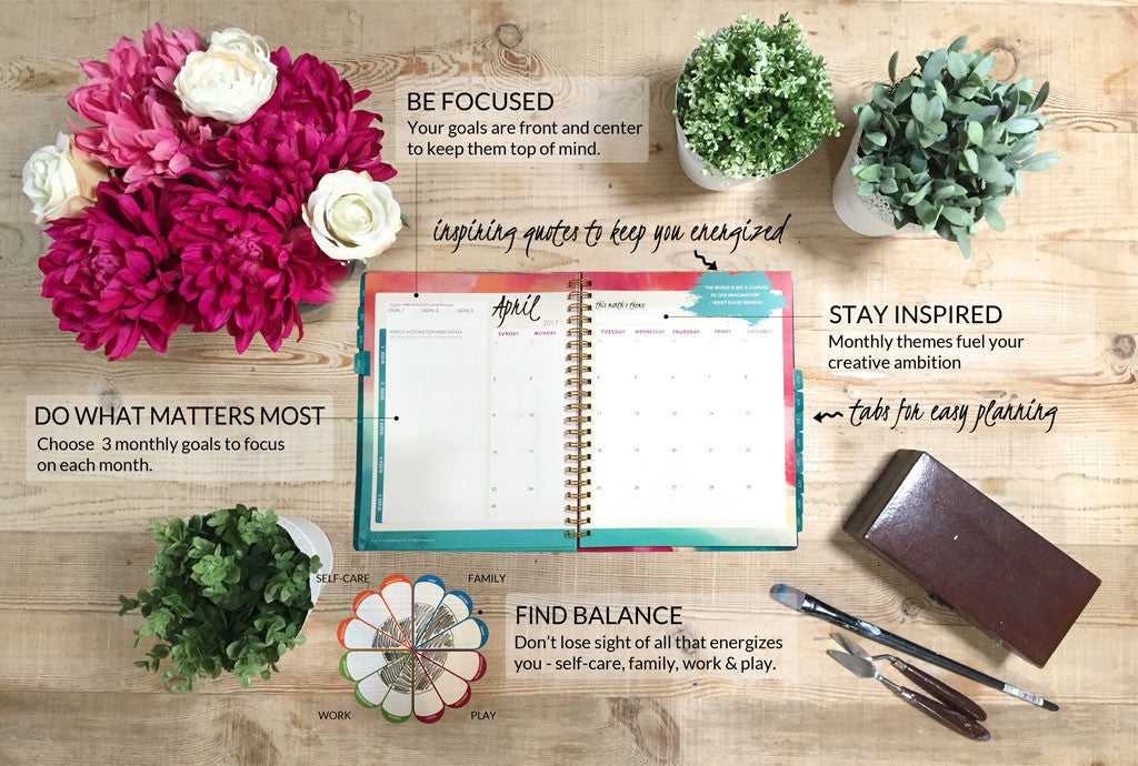 2019 monthly weekly planner inspired year goal setting planner