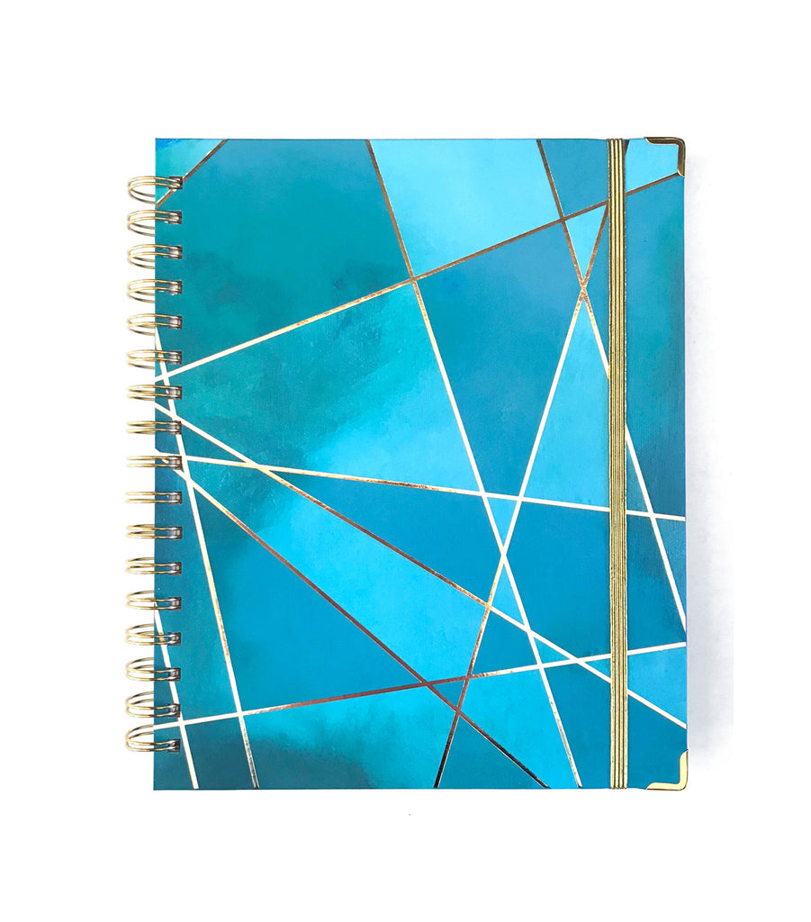 2019 Inspired Year Planner | Aqua Fragment Cover