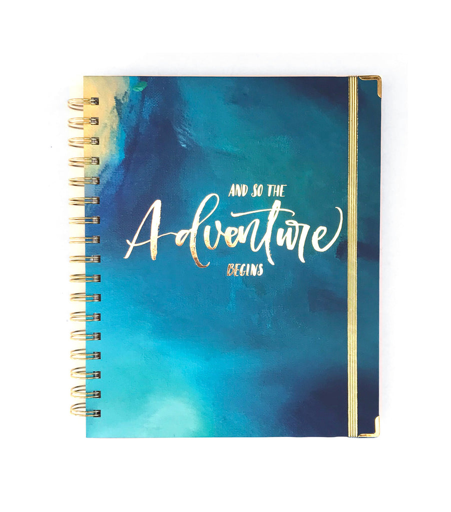 Adventure Begins Lined Journal