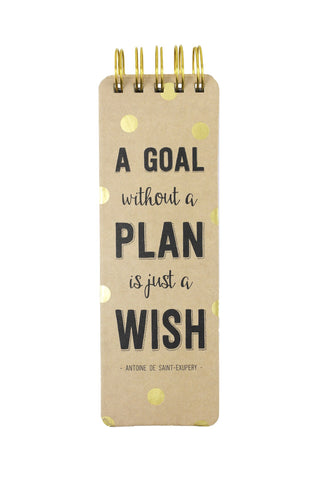 Spiral-bound 3x9 Memo pad - A Goal Without A Plan