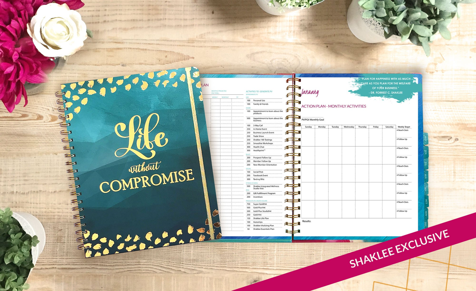 2019 Shaklee Monthly Planner