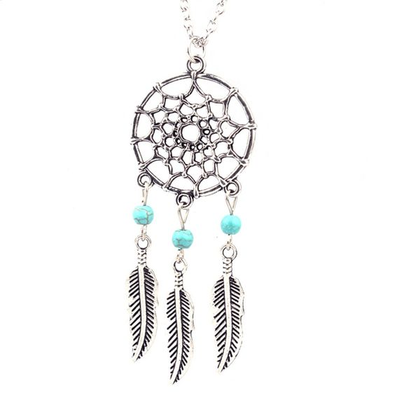 Dream Catcher Silver Necklace