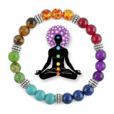 7 Chakra Healing Bracelet with Authentic Stones