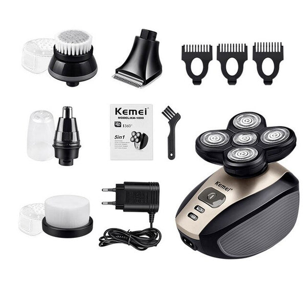 5-in-1 Instant Head Shaver