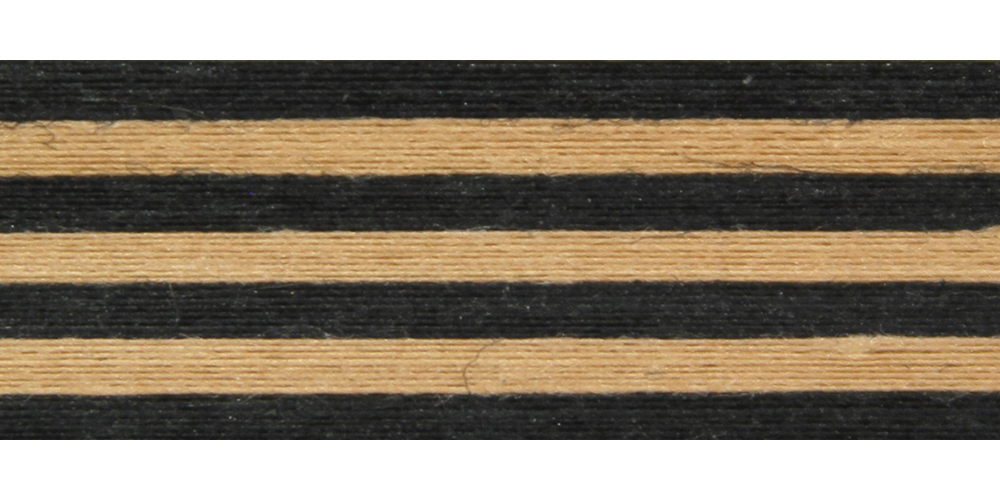 Black & Kraft Stripe